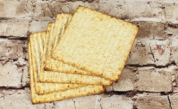 Background. matzoh jewish passover bread Stock Images
