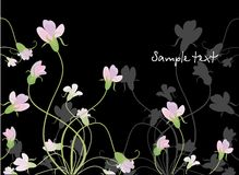 Background with meadow plants. Vector drawing of the background with wild plants and flowers Royalty Free Stock Image