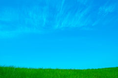 Background with meadow and sky Stock Images