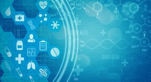 Science medicine background concept Royalty Free Stock Image