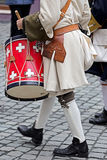 Background of a medieval soldiers, drummers Royalty Free Stock Image
