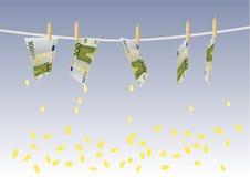 Background with melting money Stock Images