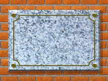 Background - Memorial Plaque Royalty Free Stock Image