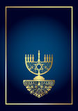 Background with Menorah stock illustration