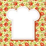 Vegetarian menu background Royalty Free Stock Images