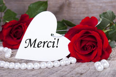 Background with Merci Stock Photography