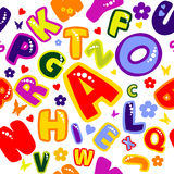 Background_merry_alphabet Royalty Free Stock Photography