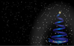 Background Merry Christmas and blue Christmas tree Royalty Free Stock Photography