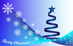 Background Merry Christmas and blue Christmas tree Stock Image