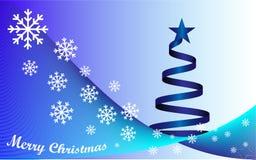 Background Merry Christmas and blue Christmas tree. Background white text Merry Christmas and blue Christmas tree Stock Image