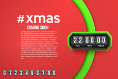 Background Merry Christmas Coming Soon and Royalty Free Stock Photos