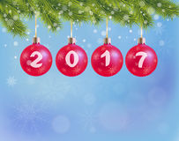 Background Merry Christmas and Happy New Year.  Royalty Free Stock Images