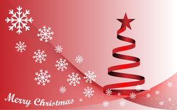 Background Merry Christmas and red Christmas tree Stock Photos