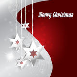 Background for Merry Christmas wishes with stars Stock Images