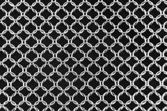 Background mesh of steel rings Stock Photography