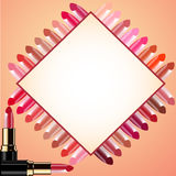 Background for message lipstick and probes Royalty Free Stock Photography