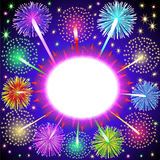 Background for message with salute and firework Royalty Free Stock Photos
