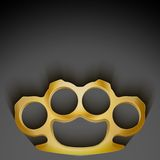 Background of Metal Brassknuckles. Stock Photography