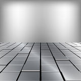 Background with Metal Bricks Royalty Free Stock Images