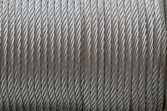 Background of metal cable Stock Photo