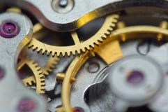 Background with metal cogwheels a clockwork. Conceptual photo Royalty Free Stock Photo
