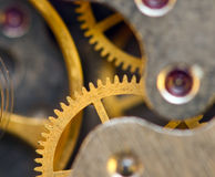 Background with metal cogwheels a clockwork. Conceptual photo Royalty Free Stock Image