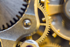 Background with metal cogwheels a clockwork. Conceptual photo Royalty Free Stock Photography