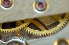 Background with metal cogwheels a clockwork. Conceptual photo Stock Photography