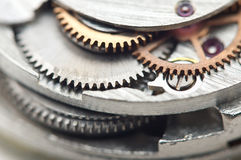 Background with metal cogwheels a clockwork. Conceptual photo Royalty Free Stock Images