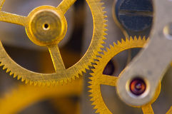 Background with metal cogwheels a clockwork. Stock Photo