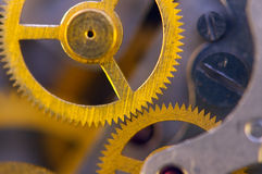Background with metal cogwheels a clockwork. Royalty Free Stock Photo