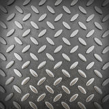 Background of metal diamond plate (3d render) Stock Image