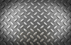 Background of metal diamond plate (3d render) Royalty Free Stock Photography