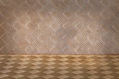 Background of metal diamond plate pattern Royalty Free Stock Photography