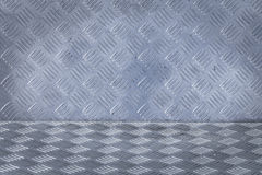Background of metal diamond plate pattern Royalty Free Stock Images