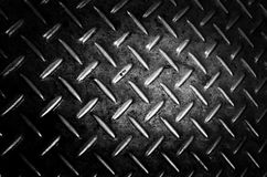 Background of metal diamond plate in silver color Stock Photography