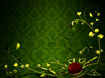 Background with metal floral design Royalty Free Stock Images