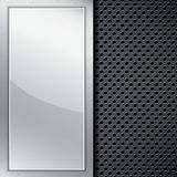 Background with metal frame Royalty Free Stock Photos