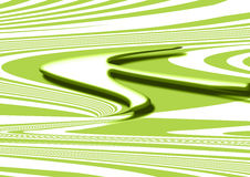 Background, metal green arrow. On green background and white curves, horizontal position. computer design Royalty Free Stock Photography