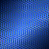 Background with metal grid of hexagons Royalty Free Stock Images