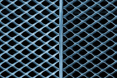 Background with Metal Grille of Car Stock Photo