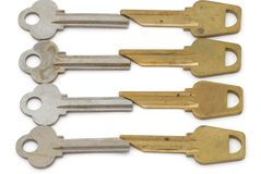 Background with metal keys Stock Photos