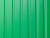 Background metal leaf green, iron profile Stock Photography