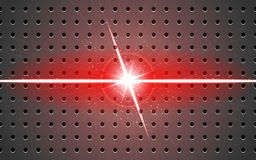 Background metal and light v-shaped projection red Royalty Free Stock Images