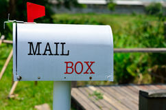 Background of metal mail box Stock Photography