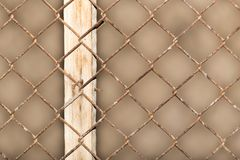 Background of the metal mesh fence. Photo of an abstract texture Royalty Free Stock Images