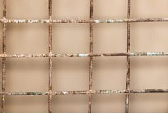 Background of the metal mesh fence. Photo of abstract background Royalty Free Stock Images