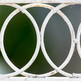 Background of the metal mesh fence. Photo of abstract background Stock Photo