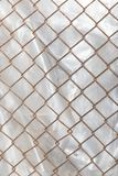 Background of the metal mesh fence. Photo of abstract background Stock Image