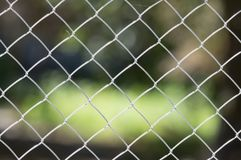 Background of the metal mesh on the nature.  Stock Photography